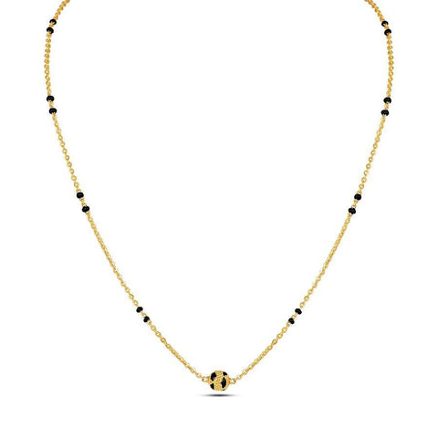 Image of 22 KT Yellow Gold Mangalsutras in 5.39 gms (With Chain)