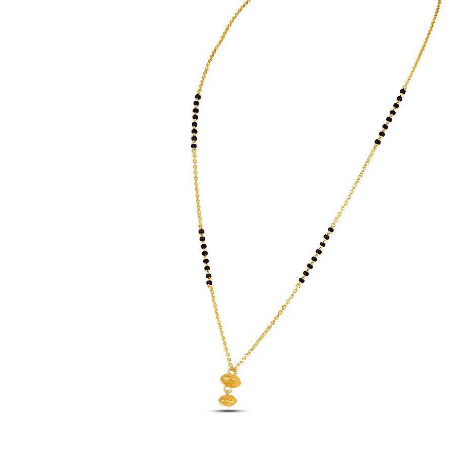 22 KT Yellow Gold Mangalsutras in 4.55 gms (With Chain)