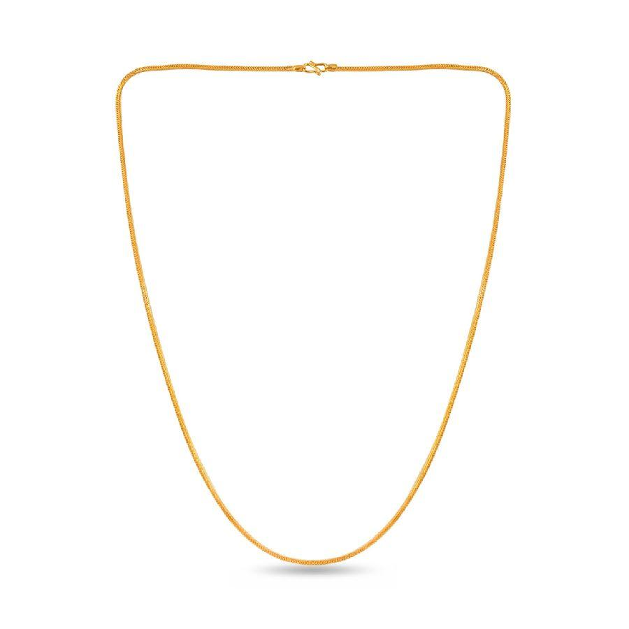 Plain gold V chain