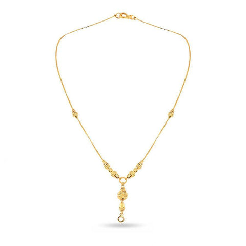 Image of Gold ball pendant chain