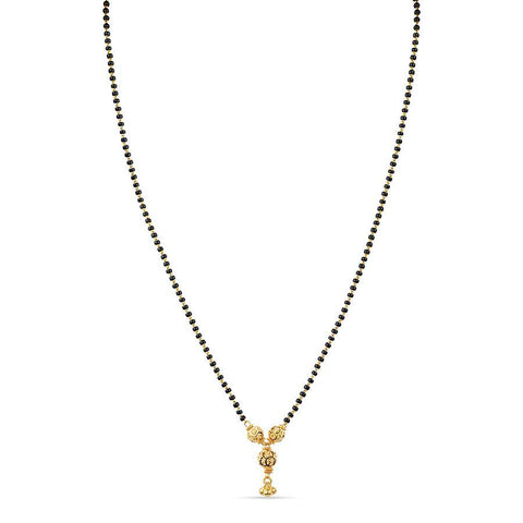 22 KT Yellow Gold Mangalsutras in 6.45 gms (With Chain)