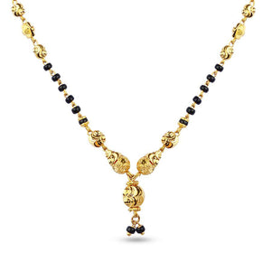 22 KT Yellow Gold Mangalsutras in 9 gms (With Chain)