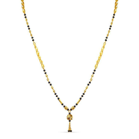 22 KT Yellow Gold Mangalsutras in 9.4 gms (With Chain)
