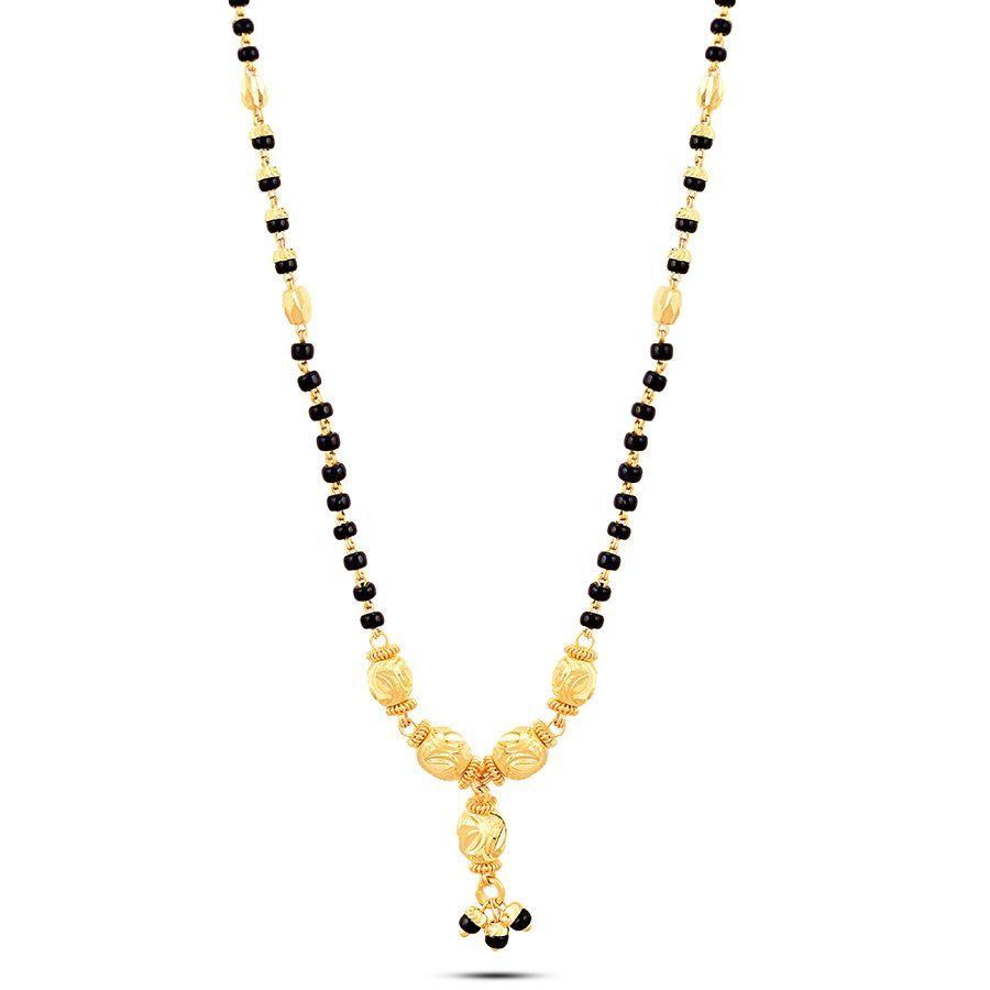 22 KT Yellow Gold Mangalsutra in 8 gms (With Chain)