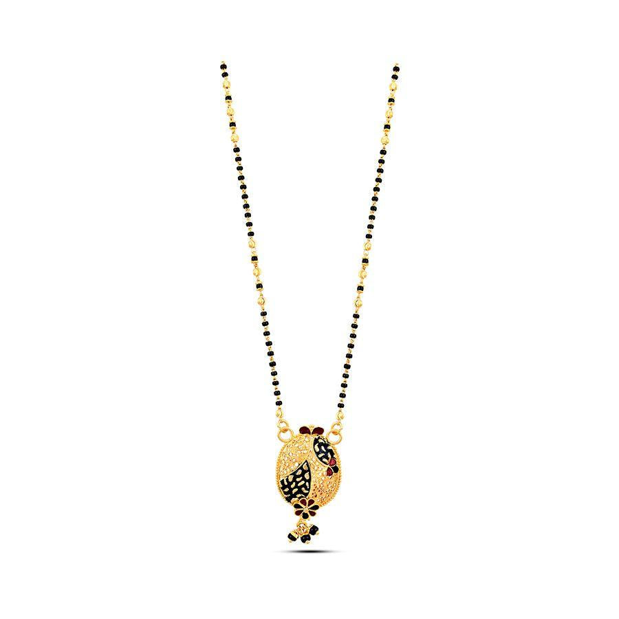 22 KT Yellow Gold Mangalsutra in 7 gms (With Chain)