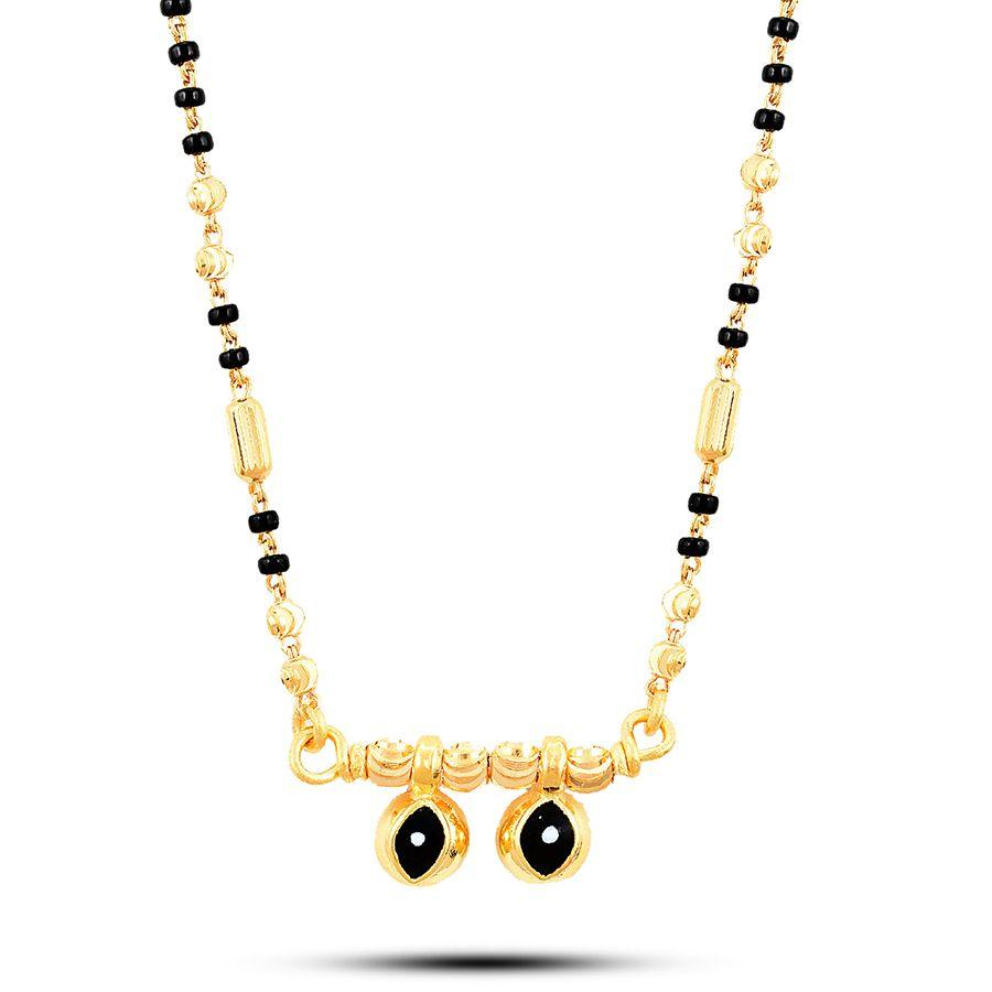 22 KT Yellow Gold Mangalsutra in 6 gms (With Chain)