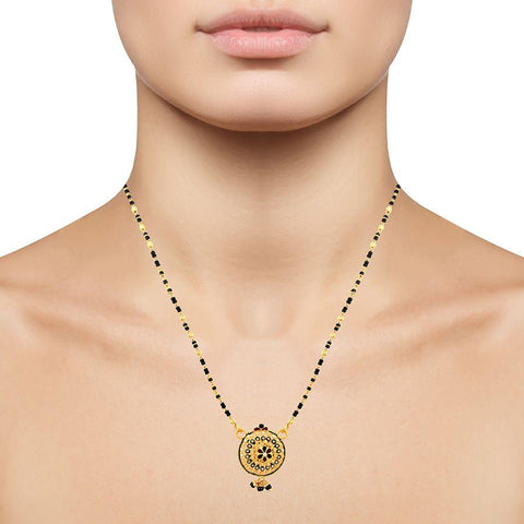 Image of 22 KT Yellow Gold Mangalsutra in 8 gms (With Chain)