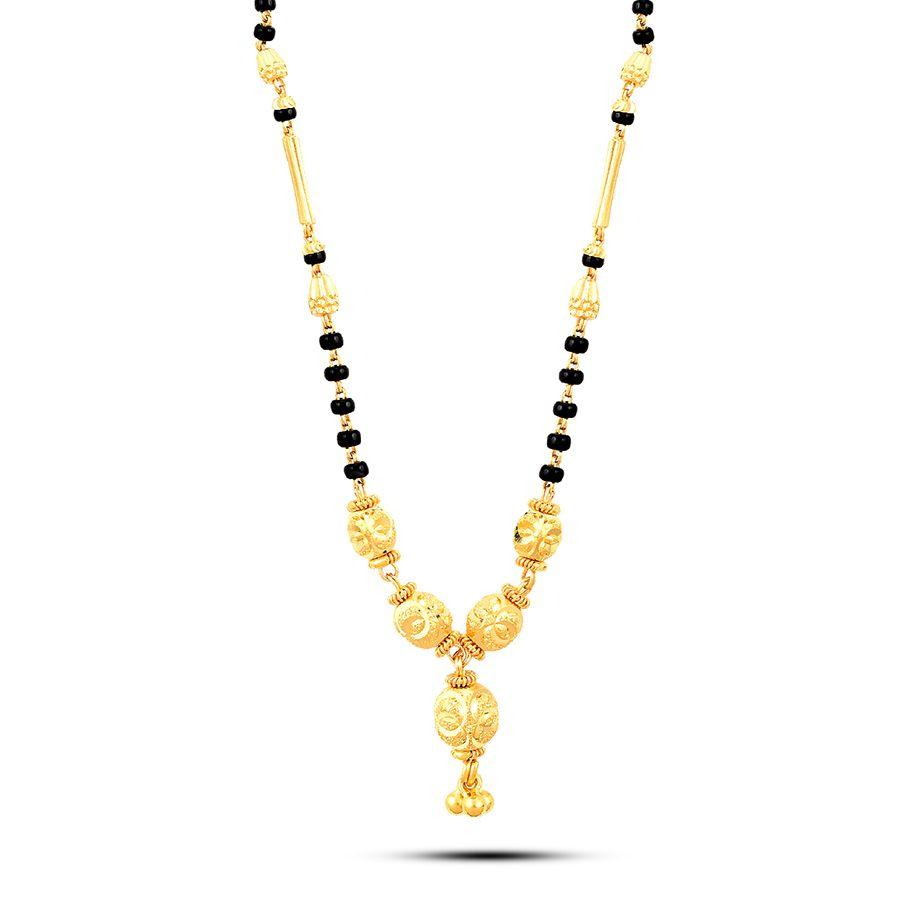 22 KT Yellow Gold Mangalsutra in 11 gms (With Chain)