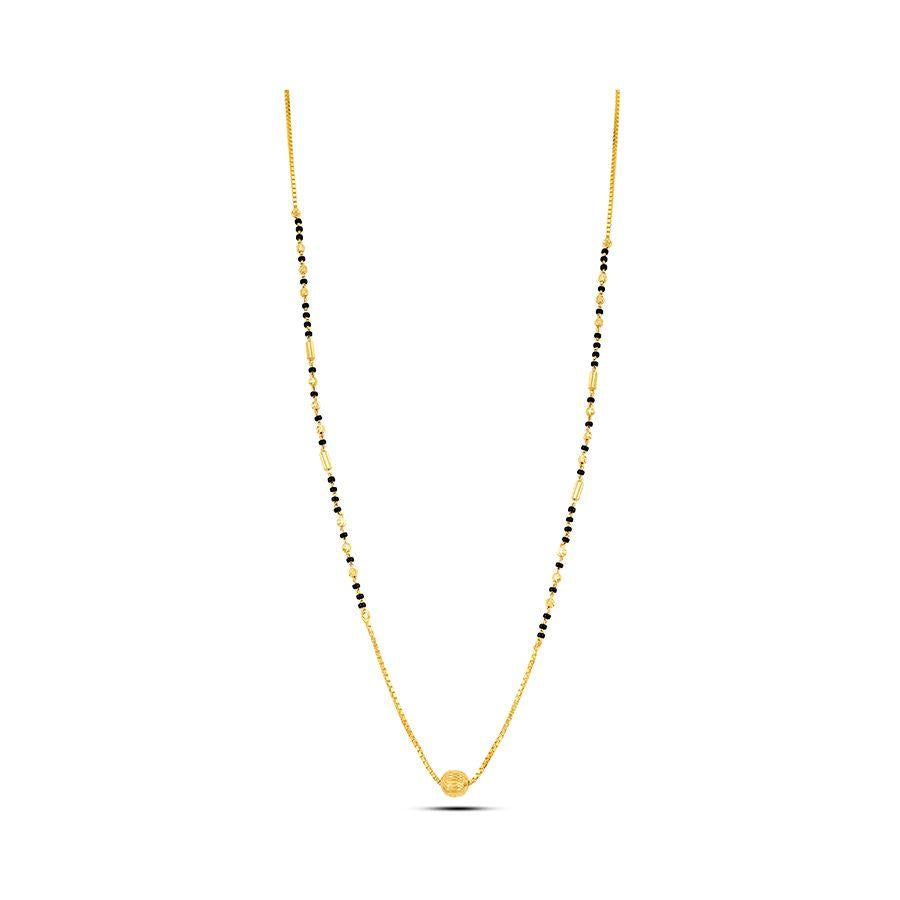 22 KT Yellow Gold Mangalsutra in 5 gms (With Chain)