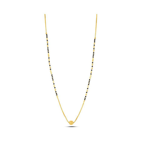 Image of 22 KT Yellow Gold Mangalsutra in 5 gms (With Chain)