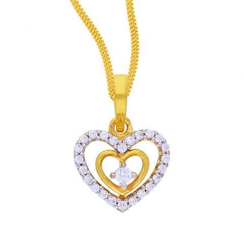 Image of Shimmery Heart Pendant
