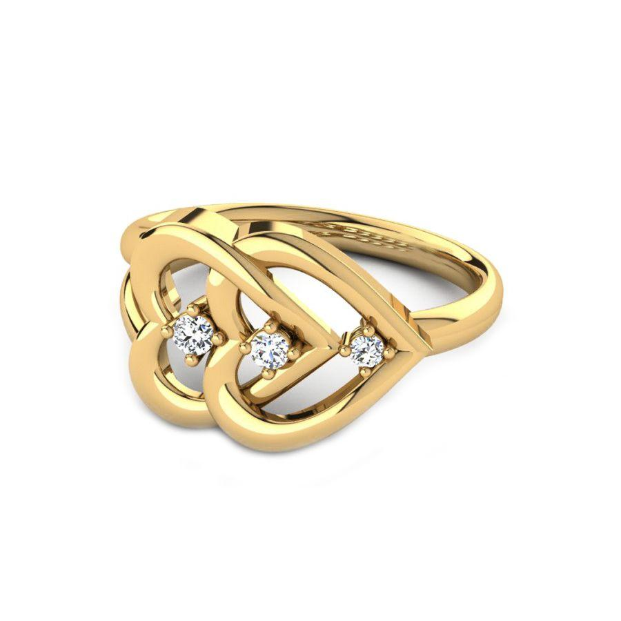 Modern Casual Rings in Yellow Gold