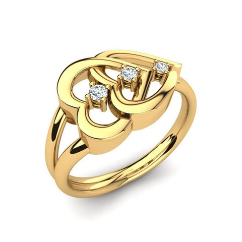 Image of Modern Casual Rings in Yellow Gold