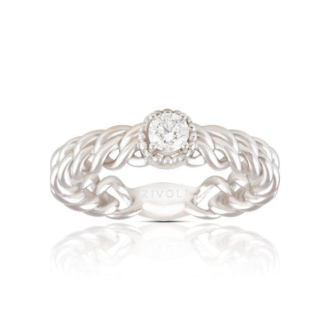 Image of New-Age Solitaire Ring