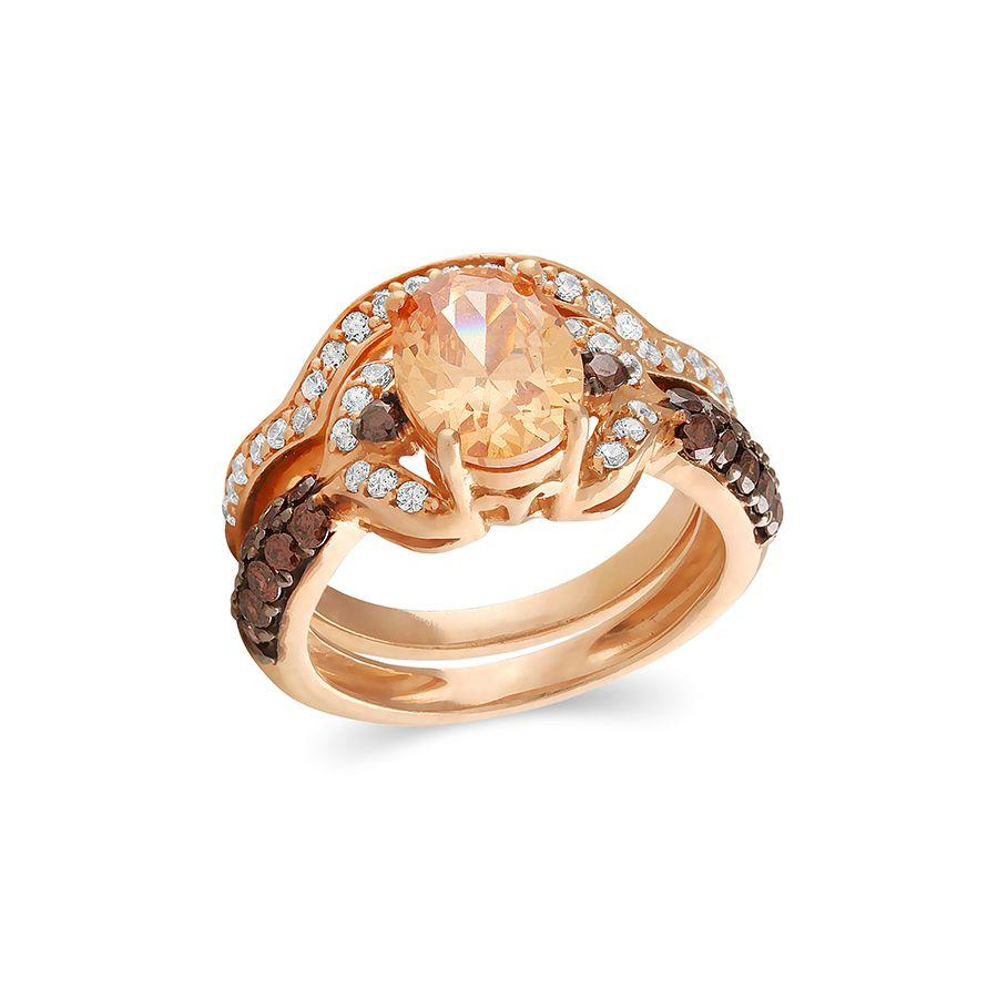 The Radiant Champagne Ring