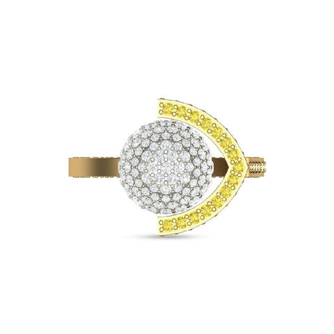Image of Citrine Modern Cocktail Rings