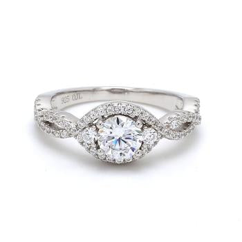 AD Twisted Accent Solitaire.