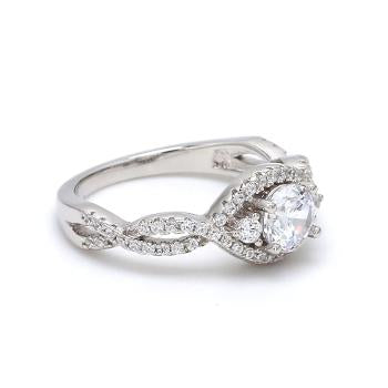Image of AD Twisted Accent Solitaire.