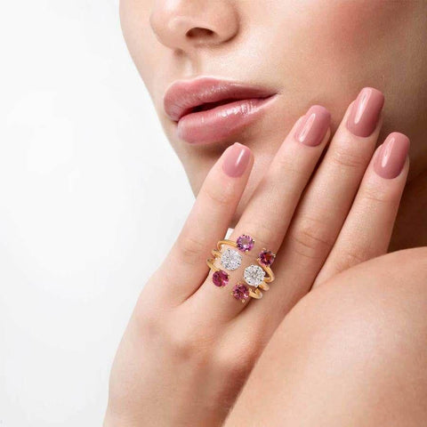 Image of Diamond and Gemstone Ring