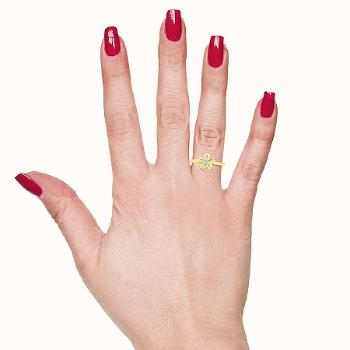 Image of Ladylove Floral Bold Gold Ring