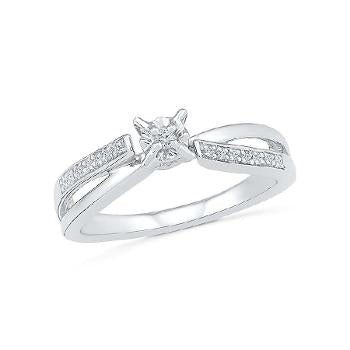 Image of Gleeful Diamond Engagement Ring