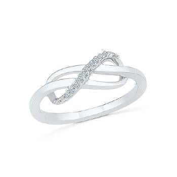 Infinity Enhancer Diamond Midi Ring