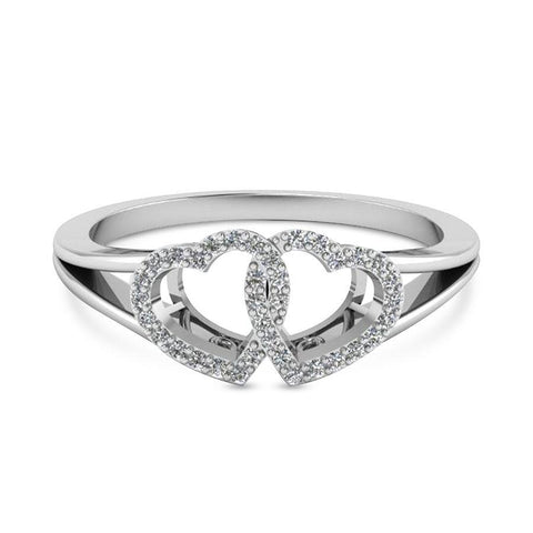 Modish Casual Rings in White Gold