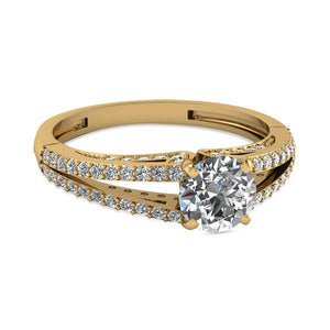 Modish Engagement Rings in Yellow Gold