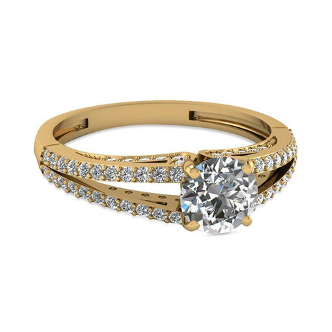 Image of Modish Engagement Rings in Yellow Gold