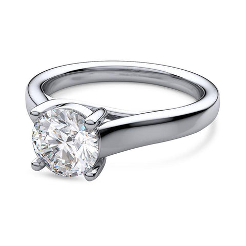 Image of Trendy Engagement Rings in White Gold