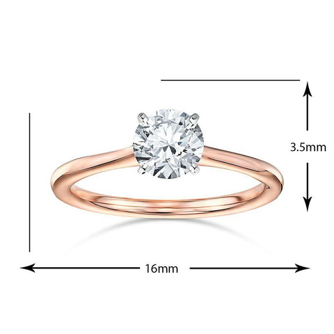 Image of Neo Engagement Rings in Rose Gold