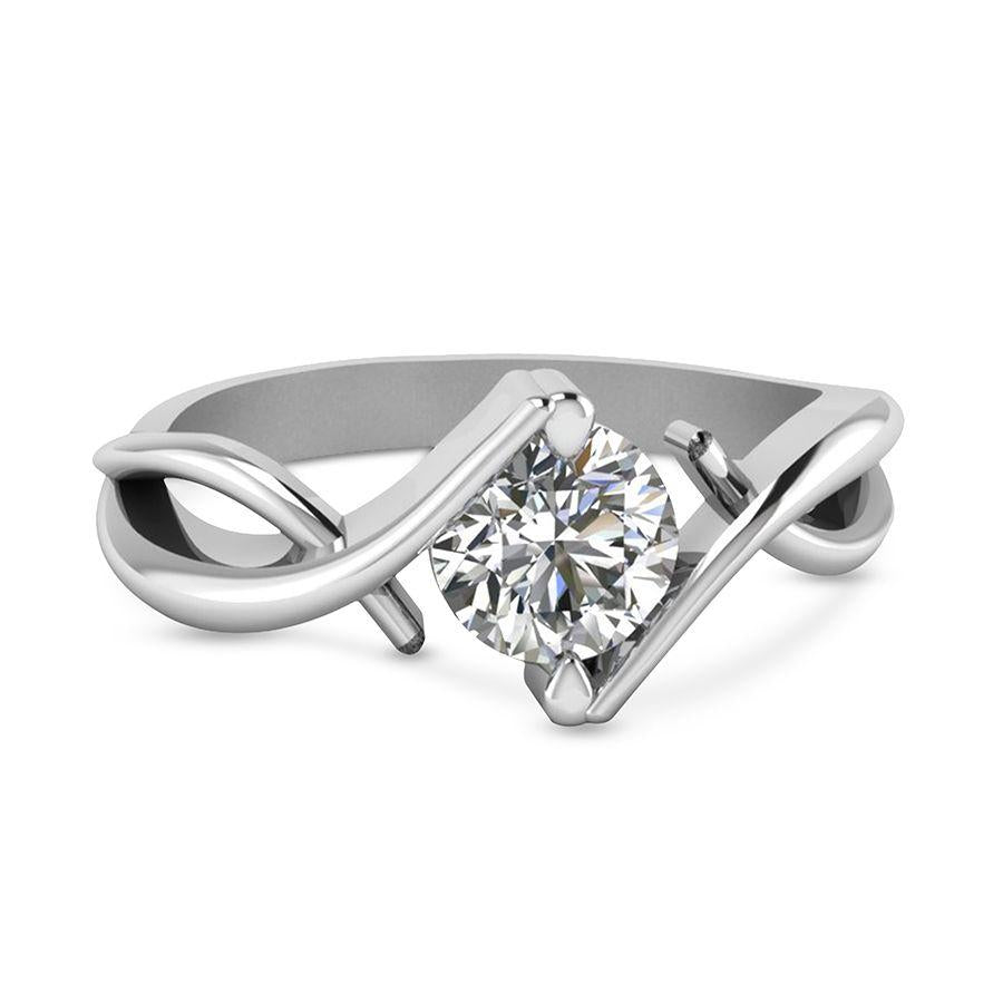 Modern Engagement Rings in White Gold