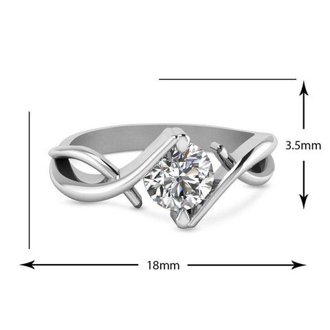 Image of Modern Engagement Rings in White Gold