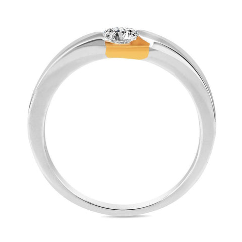 Image of Trendy Casual Rings in Yellow Gold
