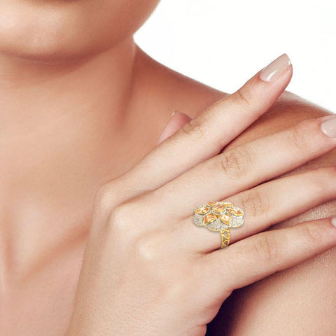 Vintage stylized floral ring