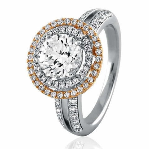 Image of Stylish Engagement Rings in White Gold