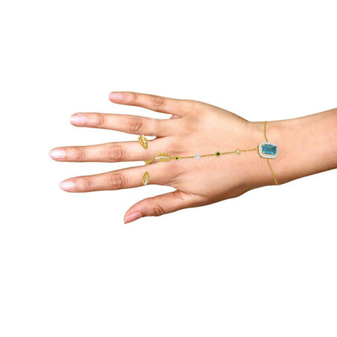 Image of Aqua Chain Bracelet