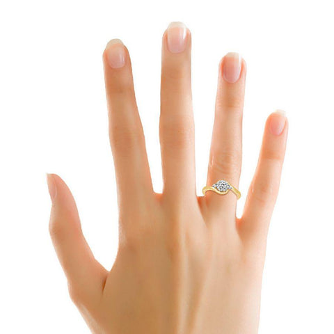 Image of Contemporary Engagement Rings in Yellow Gold
