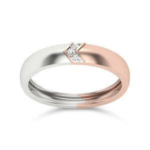 Modern Engagement Rings in Rose Gold