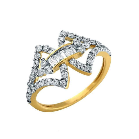 Image of Abstract Diamond ring