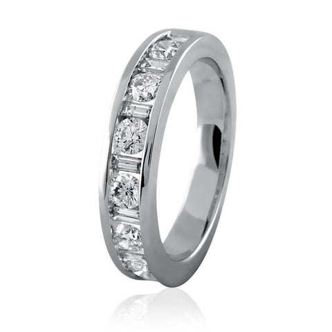 Channel Set Diamond - Baguette Eternity Band
