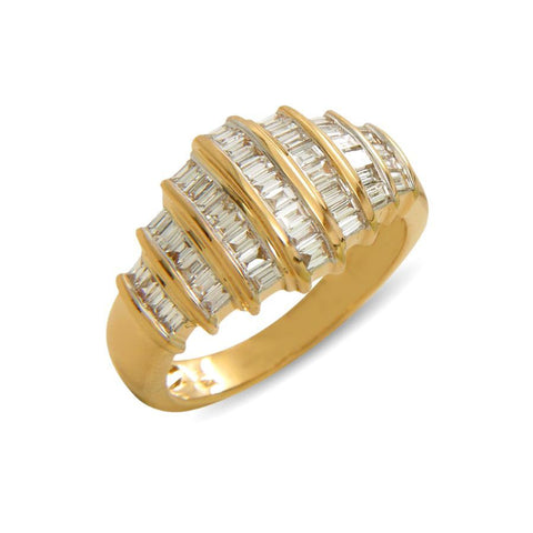 Image of Chunky baguette dome ring
