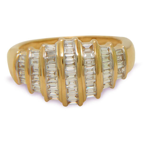 Chunky baguette dome ring