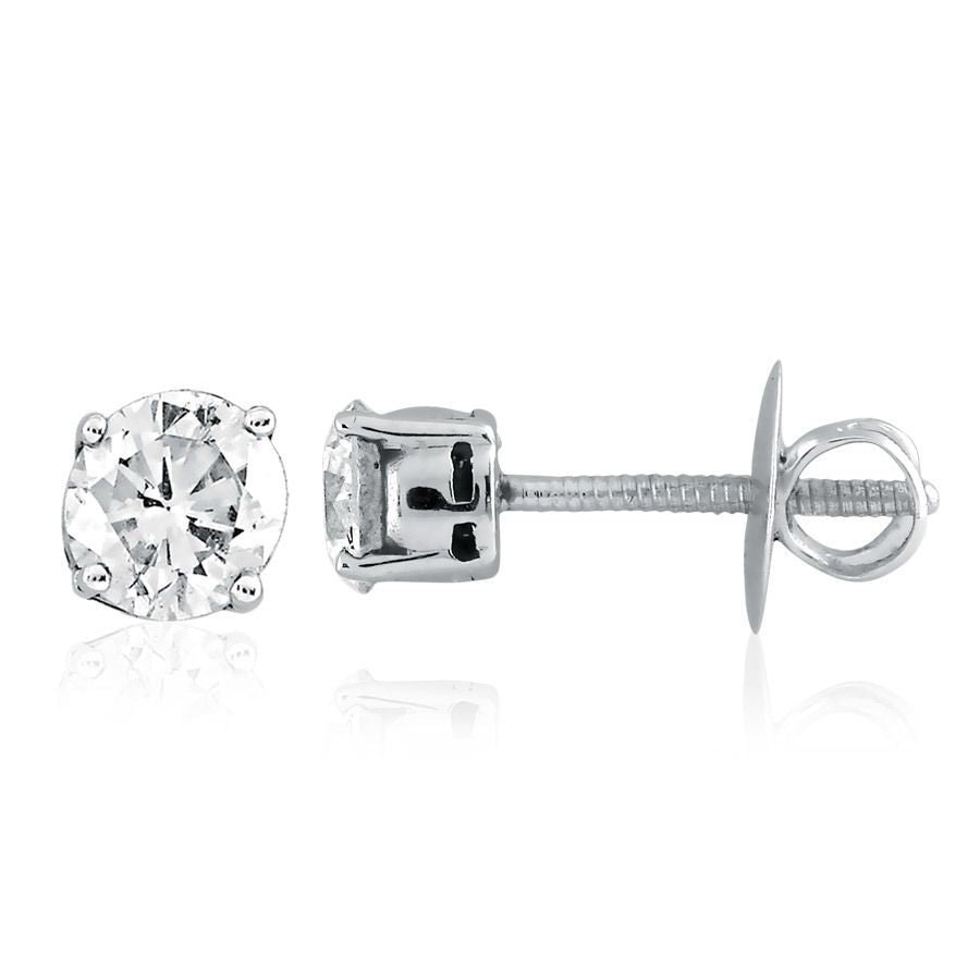 Classic 4 -Prong Solitaire Studs(0.2CT tw.)