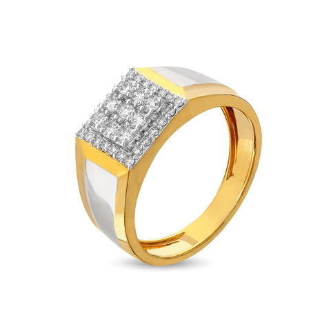Image of Classic Charm Diamond Ring for Men