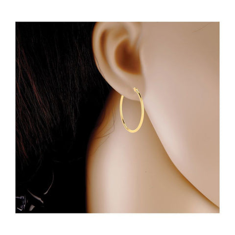 Image of Classic Lightweight Gold Hoops