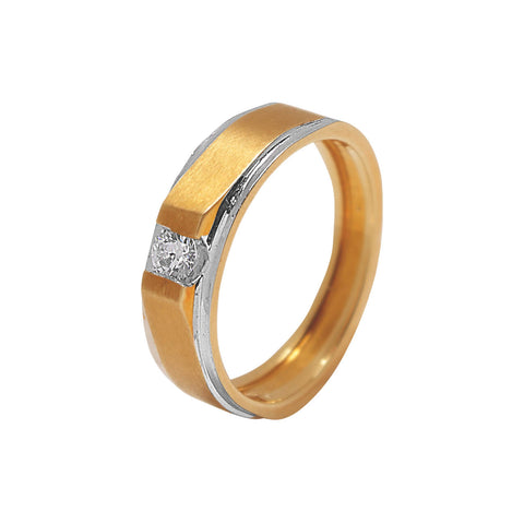 Image of Classic Men'S Two Toned Diamond Ring