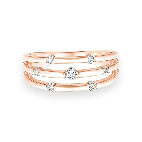 Contemporary Casual Rings in Rose Gold