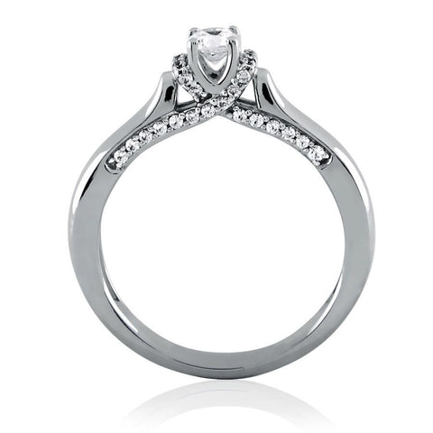 Decorative Diamond Solitaire Ring