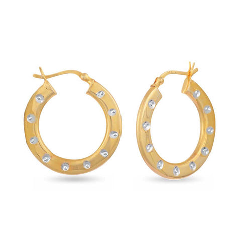 Image of Delighted Charm Hoop Earrings
